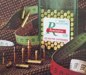 El antecesor espiritual del .17 HMR es el  5 mm Remington Rimfire Magnum. Imagen de un catálogo original de Remington de finales de principios de los ochenta donde aparece aún en producción.