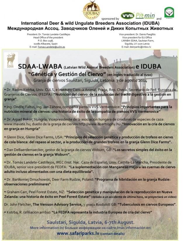 Programa IDUBA Concgreso Ciervo