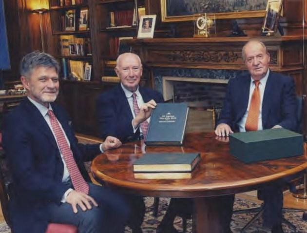 SM El Rey, Nicolás Franco  y Gerhard Damm
