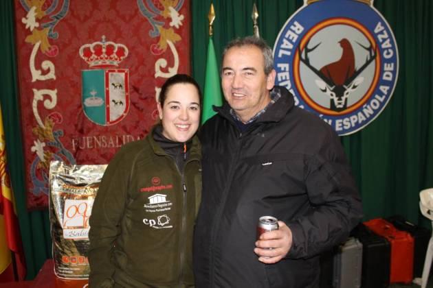 Verdasco con el presidente de la Asociación de Agricultores y Ganaderos de Fuensalida.