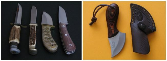 En nuestra mochila no puede faltar la navaja o un pequeño cuchillo. Suelo decantarme por skinners o navajas desolladoras, lo mismo te sirven para pelar una manzana que para eviscerar un jabalí, ambos son pequeños y pesan poco. El cuchillo de remate aquí no tiene sentido, es solo un estorbo.