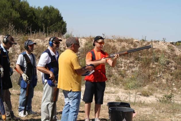 Puesto de tiro de recorridos de caza