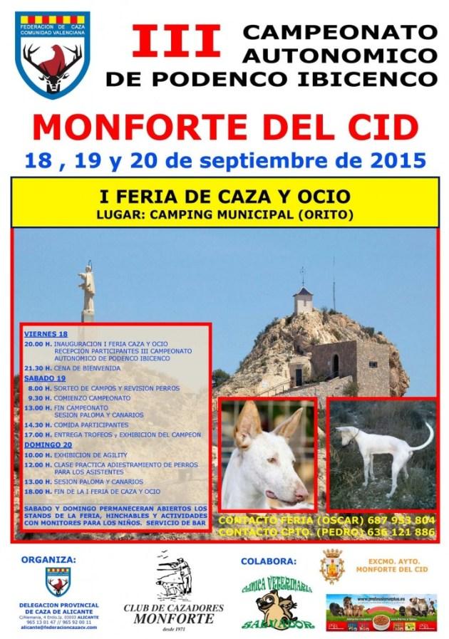Cartel III Campeonato Autonómico Podenco y I Feria de Caza y Ocio copia