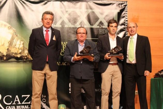 """Caracola de bronce a la mejor montería en abierto: """"Berrocal - Cuqueras"""", organizada por SM La Patrona."""