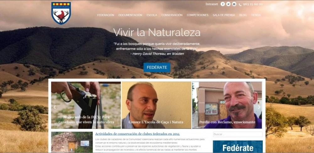FCCV estrena pagina web bajo el lema Vivir la Naturaleza
