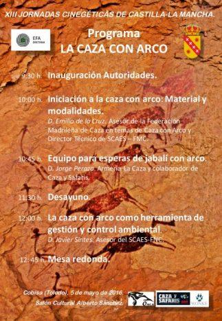 Programa XIII Jornadas Cinegeticas. La Caza con Arco