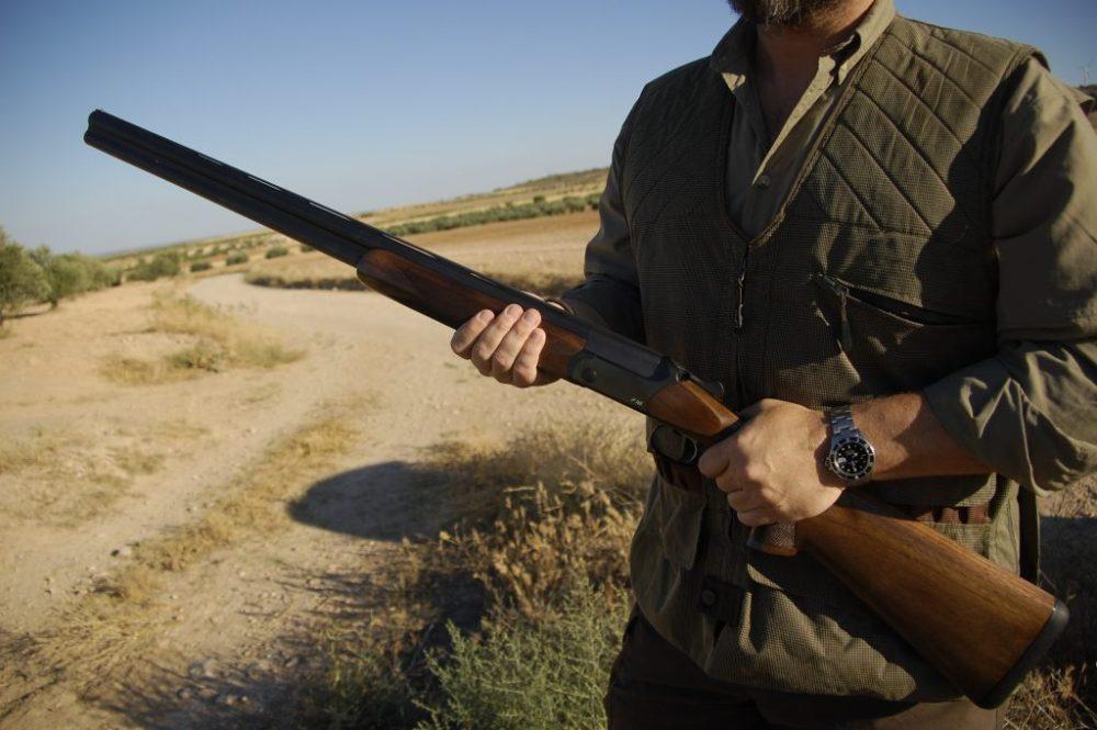 19 descaste conejos con escopeta blaser F16 cazador