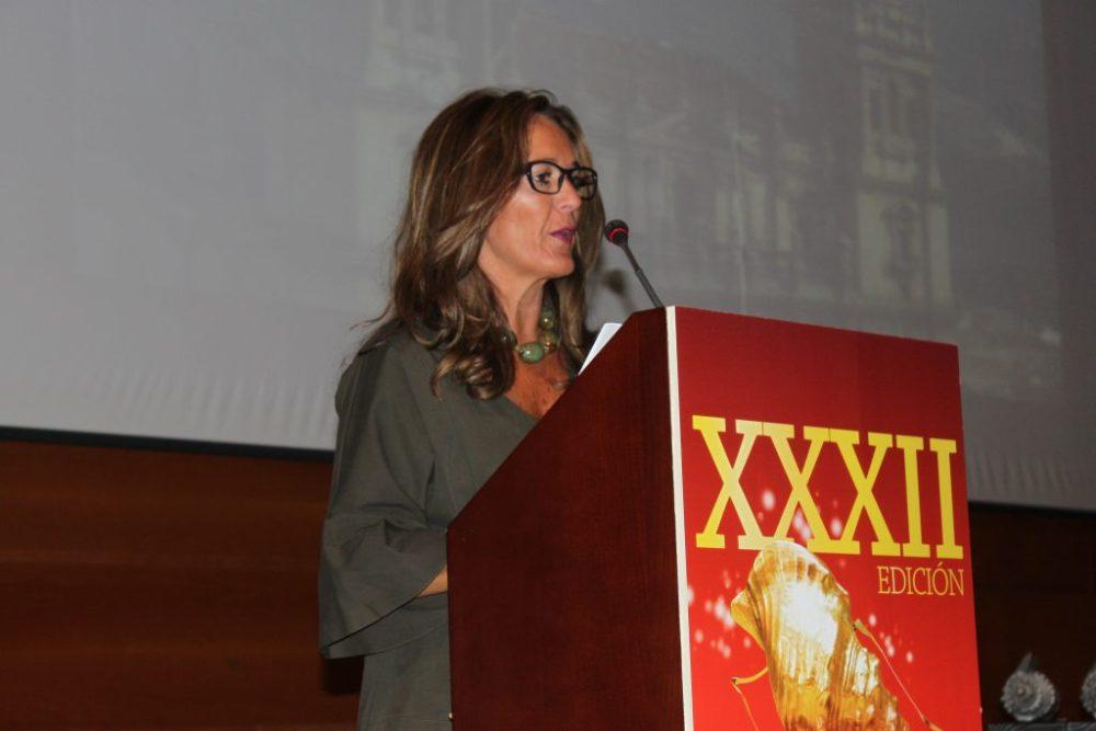 Rosario Morales, concejala de Deportes y Turismo Ayuntamiento de Jaén, dando la bienvenida a los asistentes a esta ciudad y a esta gala.