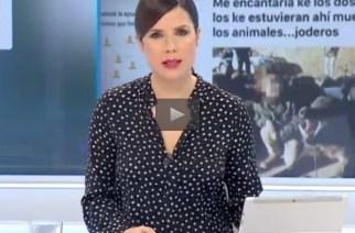 Canal Extremadura se hace eco de la denuncia en el caso de los niños con el trofeo de jabalí