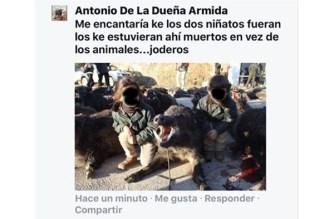 Indignación entre los cazadores por el ataque animalista a dos menores
