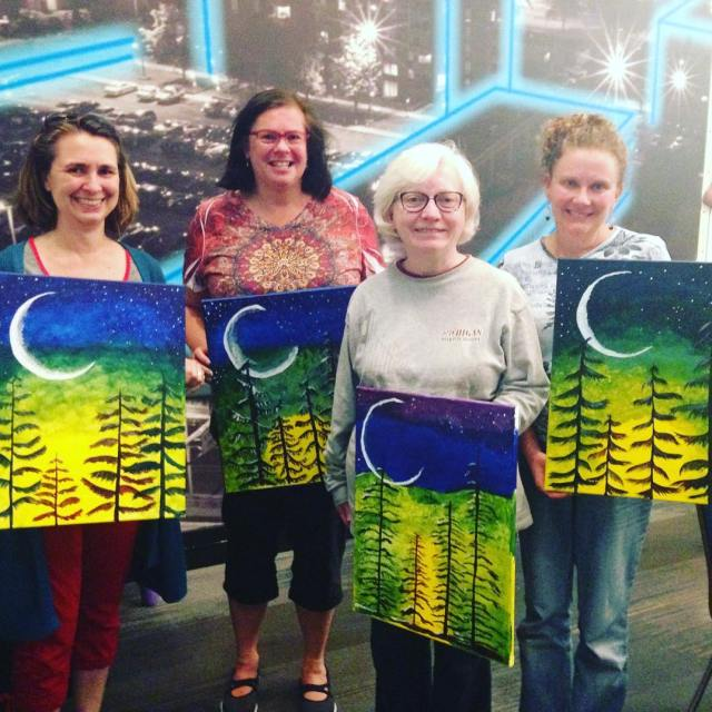 4 of our members had a fun paintnite outing lasthellip