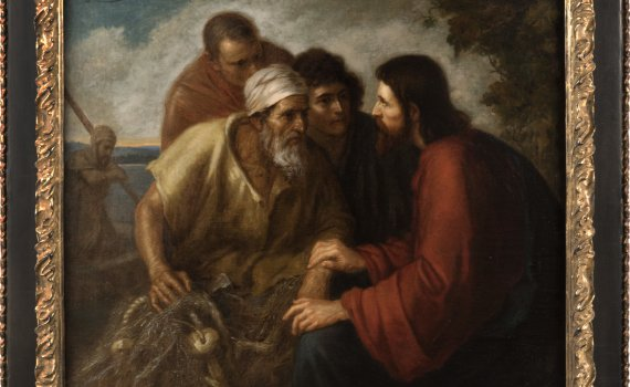 CHRIST WITH THE FISHERMAN BY ERNST ZIMMERMAN