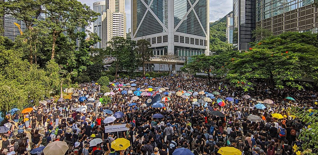 protestors in Hong Kong
