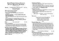 October 25 Bulletin