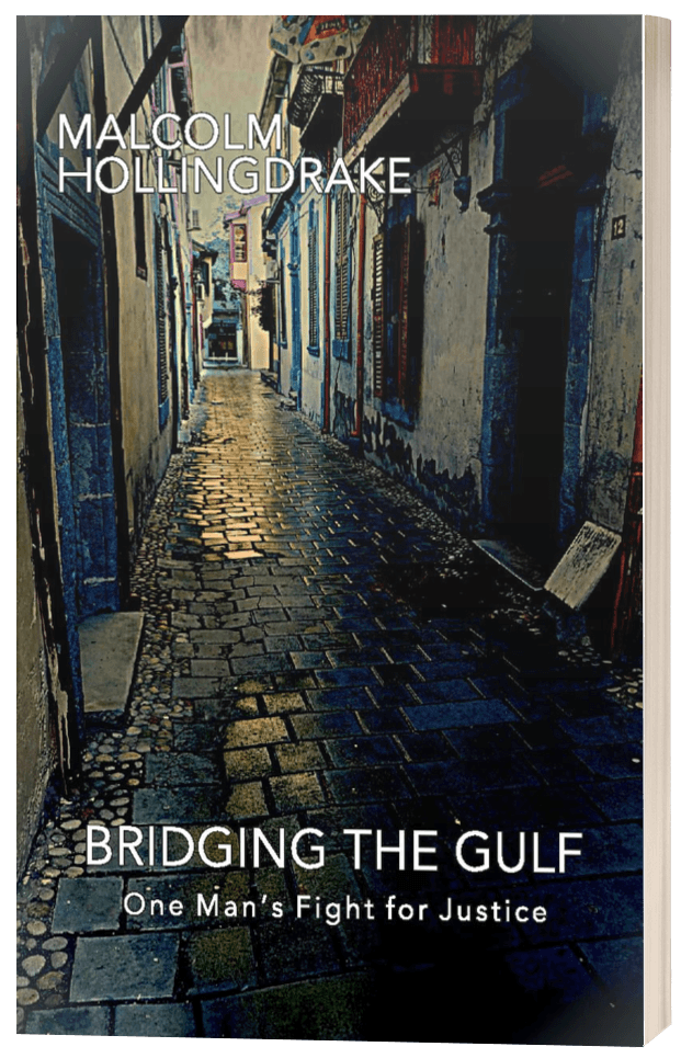 Bridging the Gulf - Malcolm Hollingdrake - 3D book cover