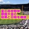 夏の高校野球静岡県大会2018の日程と結果!優勝校予想と注目選手は?