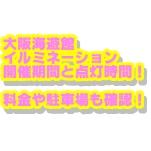 大阪海遊館イルミネーション2019開催期間と点灯時間!料金や駐車場も確認!
