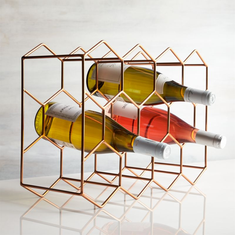 11 bottle wine rack copper reviews crate and barrel