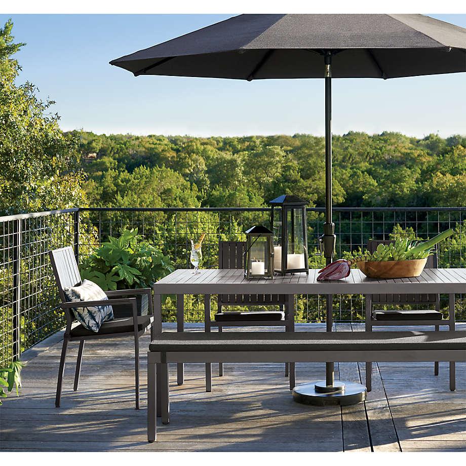 alfresco ii grey rectangular dining table