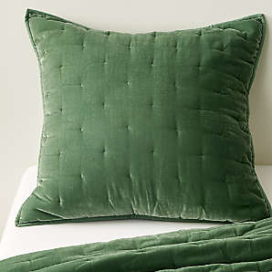 green bedding crate and barrel