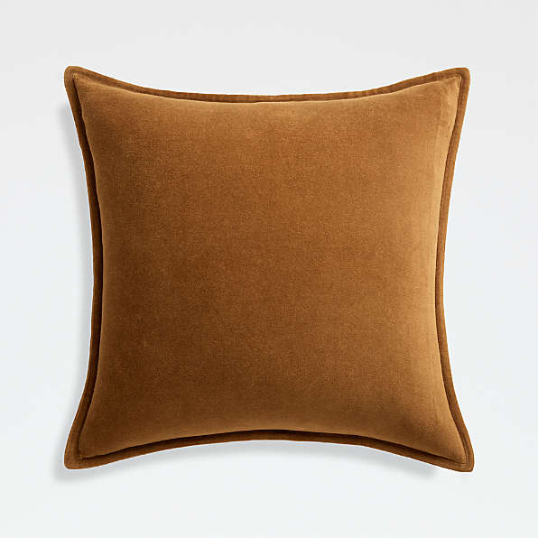 velvet pillows crate and barrel