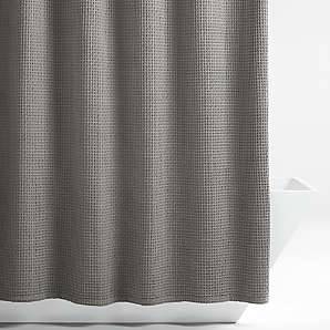 cotton shower curtains crate and barrel