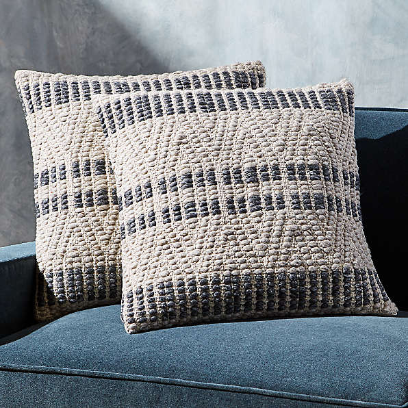 striped pillows crate and barrel