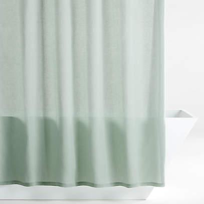 hemp green shower curtain