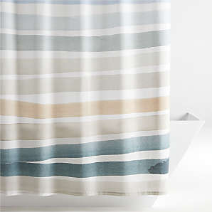 blue shower curtains crate and barrel