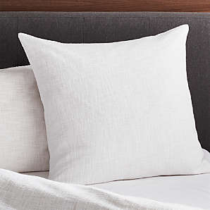 cotton euro shams crate and barrel