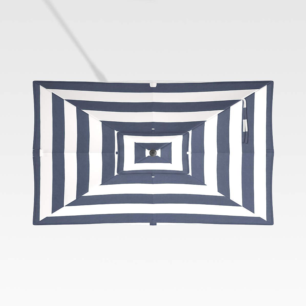 rectangular sunbrella cabana stripe navy umbrella canopy