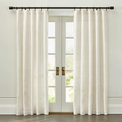 silvana ivory silk curtain panel