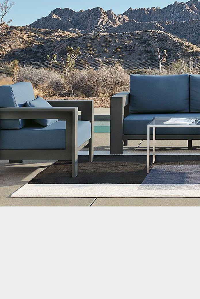 metal patio furniture crate and barrel