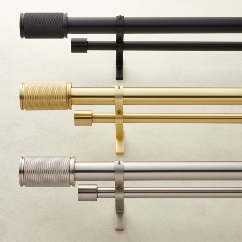 amp finial double rod curtain rod set