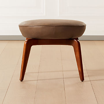 modern ottomans and accent stools cb2