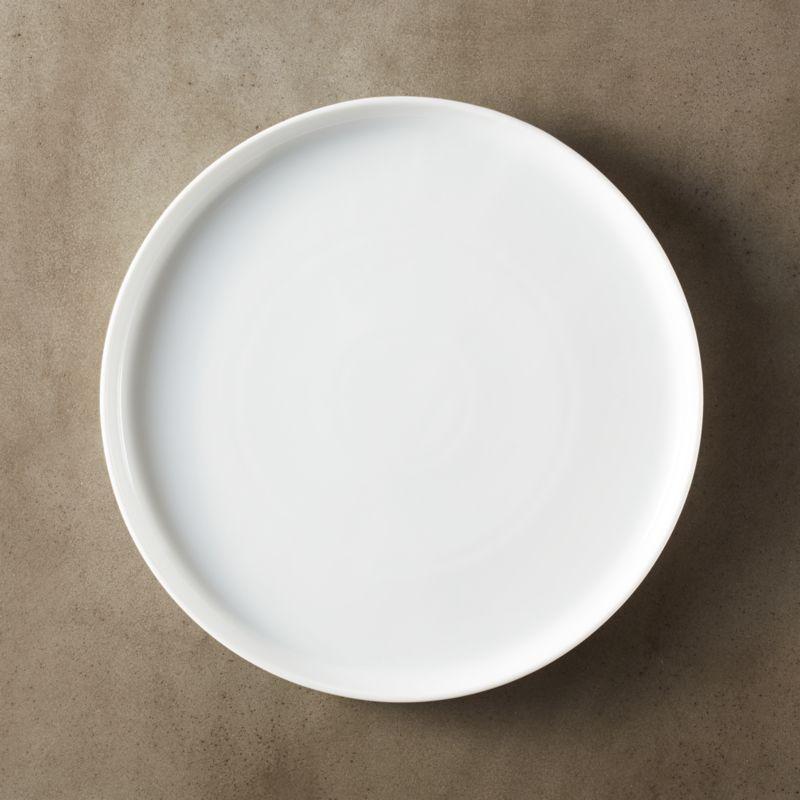 Ledge White Porcelain Dinner Plate Reviews CB2