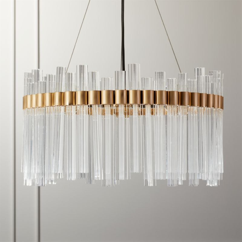 orion glass crystal chandelier reviews cb2