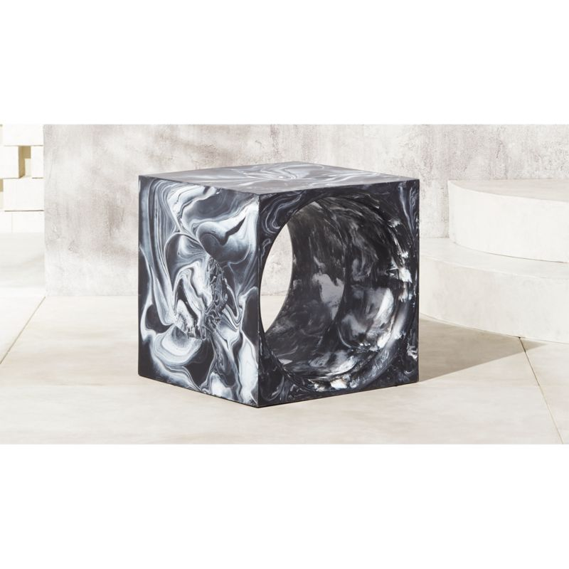 Portal Resin Outdoor Side Table + Reviews