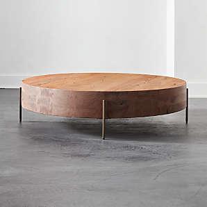 modern round coffee tables cb2