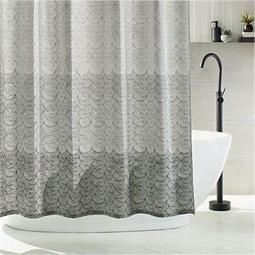modern unique shower curtains cb2