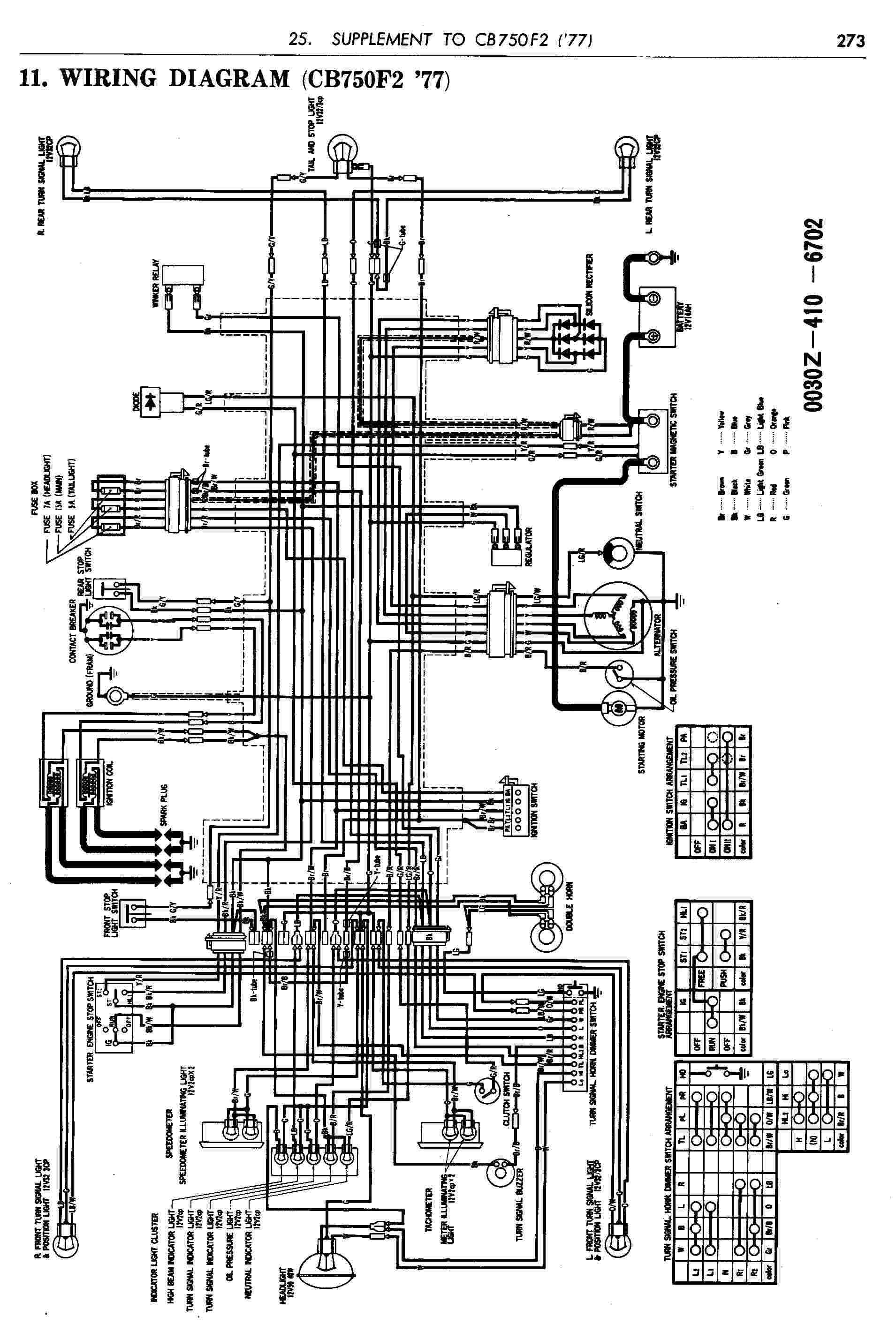 Wiring Diagram Honda Cb 100