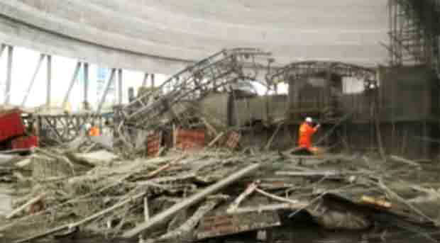 Dozens dead, many injured in east China construction site collapse