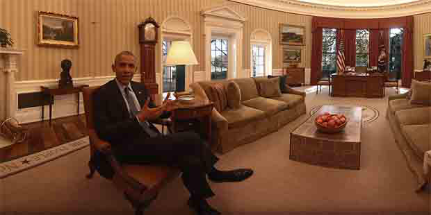 US President Barack Obama hosts virtual tour of the White House