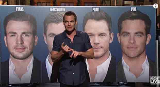 Actor Chris Pine ID's himself in Saturday Night Live