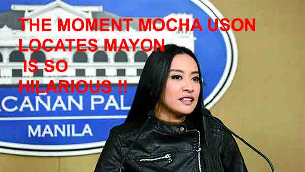 Watch The Moment Mocha Uson Locates Mayon is so Hilarious