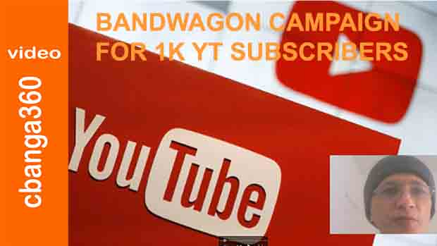 Watch the joint 1K subscriber bandwagon campaign for our Youtube channels