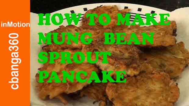 Watch How to make Mung Bean Sprout Pancake, Fritters