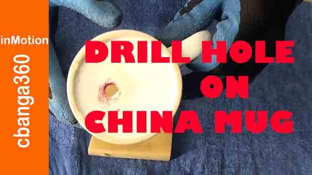 Watch How to Bore Hole on China Ceramic Mug