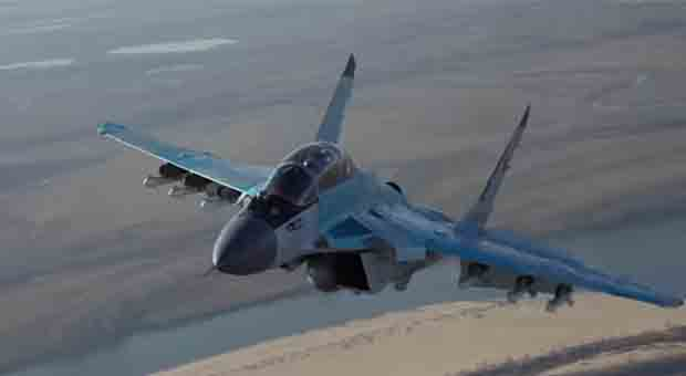 Russian Defense Ministry unveils new MIG-35 fighter jet. Screen capture from video.