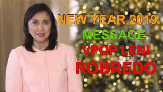 This is the 2019 New Year Message of VPOP Leni Robredo